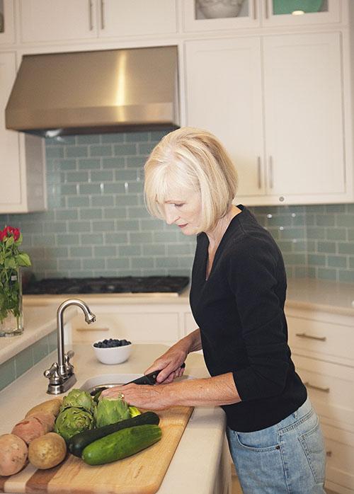 Melinda in kitchen